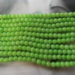 Glass Beads 8 mm Parrot Green