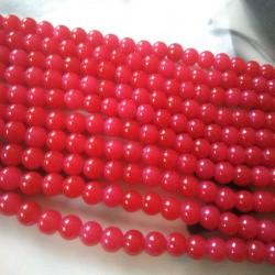 Glass Beads 8 mm Reddish Pink