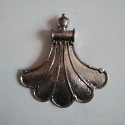 German Silver Fan Pendant